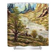 Desert River Shower Curtain