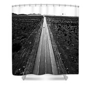 Desert Road Shower Curtain