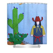 Desert Roadrunner By Mary Ellen Palmeri Shower Curtain