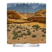 Desert Sandstone Cliffs Valley Of Fire Shower Curtain
