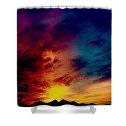 Desert Skull Of The Saguaro Sunset #3 Shower Curtain
