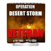 Desert Storm Vet Phone Case Work Shower Curtain