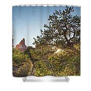 Desert Sunburst Shower Curtain