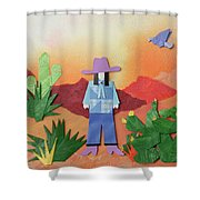 Desert Sunrise By Mary Ellen Palmeri Shower Curtain
