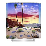 Desert Sunrise Shower Curtain