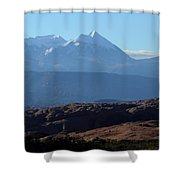 Desert To Mountains Shower Curtain