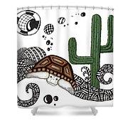 The Desert Tortoise Shower Curtain
