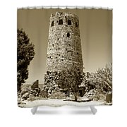Desert Tower Work Number 2 Shower Curtain by David Lee Thompson