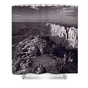 Desert View At Grand Canyon Arizona Bw Shower Curtain