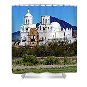 Desert View - San Xavier Mission - Tucson Arizona Shower Curtain