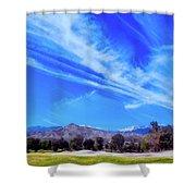 Desert Winter Sky Shower Curtain