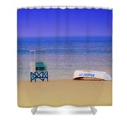 Deserted Beach Shower Curtain