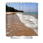 Deserted Shore Of The Island Of Tioman Shower Curtain
