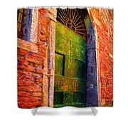 Deserted Venice  Shower Curtain