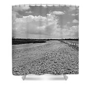 Desertic Landscape Shower Curtain