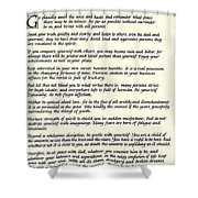Desiderata 17 Shower Curtain
