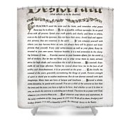 Desiderata 3 Shower Curtain