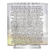Desiderata 8 Shower Curtain