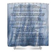 Desiderata - Blue Shower Curtain
