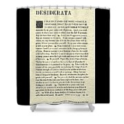 Desiderata Poem On Parchment Shower Curtain