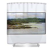 Desiderata Rugged Coastline Shower Curtain