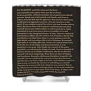 Desiderata Signature Collection Shower Curtain
