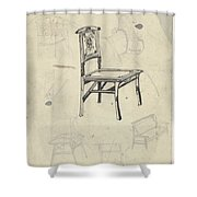 Design For A Chair, Carel Adolph Lion Cachet, 1874 - 1945 Shower Curtain