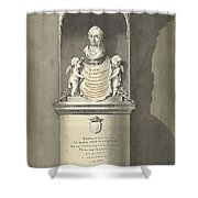 Design For A Monument To C. Brunings A Bust In A Niche, Bartholomeus Ziesenis, 1806 Shower Curtain