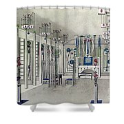 Design For A Music Room With Panels By Margaret Macdonald Mackintosh Shower Curtain