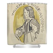 Design For A Painting In The Mailboot William II Prince Of Orange, Carel Adolph Lion Cachet, 1874 -  Shower Curtain
