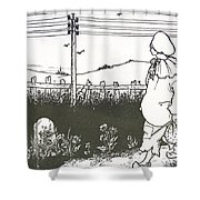 Design For End Paper Of Pierrot Shower Curtain