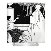 Design For The Yellow Book Shower Curtain