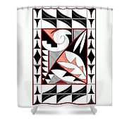 Southwest Collection - Design Four In Red Shower Curtain