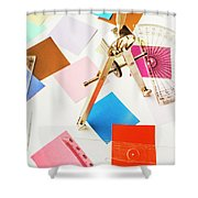 Design In Abstract Geometry Shower Curtain