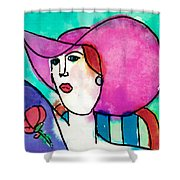 Design Lady Shower Curtain