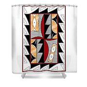 Southwest Collection - Design One In Red Shower Curtain