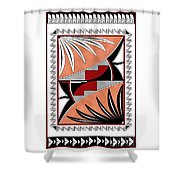 Southwest Collection - Design Three In Red Shower Curtain