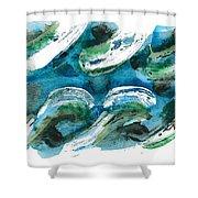 Design Waves Shower Curtain