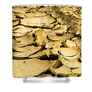 Designs In The Mud Shower Curtain