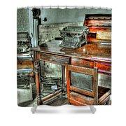 Desk Or Typewriter Shower Curtain