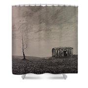 Desolate Bathtub Shower Curtain