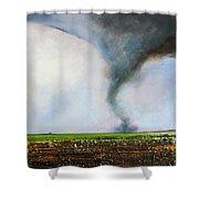 Desolate Tornado Shower Curtain