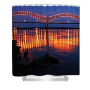 Desoto Bridge Refections Shower Curtain