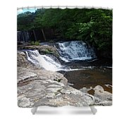 Desoto Falls In Alabama Shower Curtain