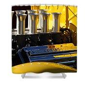 Desoto Firedome Eight Engine Shower Curtain