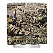 Destiny - Us Army Infantry Shower Curtain