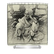 Destitute On The Ganges Shower Curtain