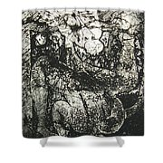Destroy Plate Shower Curtain