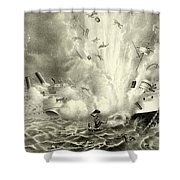 Destruction Of The Us Battleship Maine, 15th February, 1898 Shower Curtain