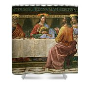 Detail From The Last Supper Shower Curtain by Domenico Ghirlandaio